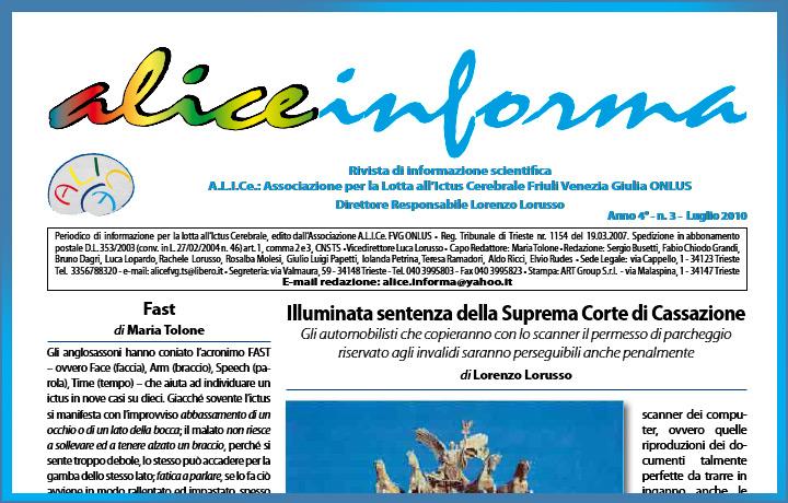 aliceinforma – luglio 2010