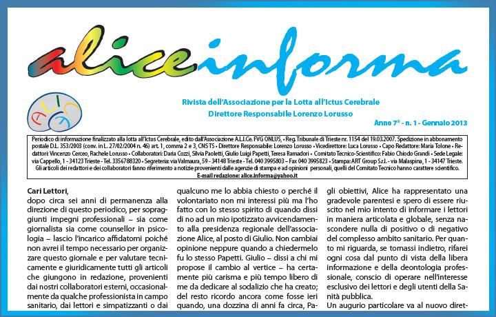 aliceinforma - gennaio 2013