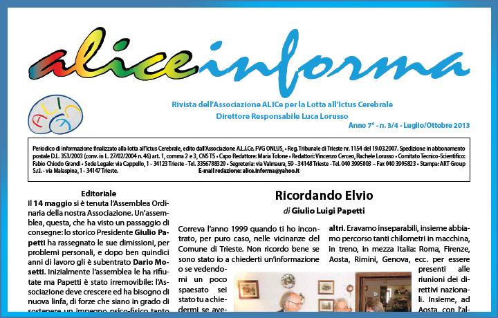 aliceinforma - luglio/ottobre 2013