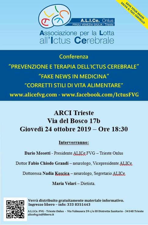 Locandina Conferenza ARCI Trieste